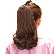 12 인치 고품질 합성 볼륨 말꼬리 묶은 머리 곱슬 머리의 헤어 유효한 5 개의 색깔