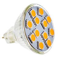 GU5.3(MR16) LED-spotlys MR11 12 leds SMD 5050 Varm hvid 210-250lm 2800-3200K Vekselstrøm 12V
