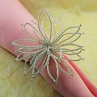 Güzel Boncuklu Çiçek Peçete halkası, 12 Set Cam Beades, 4,5 cm,
