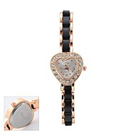 Personalized Gift  Women's   White Love Shape Dial Black Band  Bracelet  Analog Engraved Watch