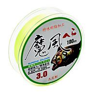お買い得  釣り糸-ラインボックス / 釣り糸 PEライン / Dyneema 100M / 110ヤード グリーン / イエロー 25LB / 30LB / 50LB / 55LB / 60LB / 65LB / 75LB / 80LB