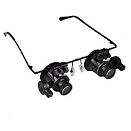 cheap Leisure Hobbies-20X Magnifier Magnifying Eye Glasses Jeweler Watch Repair LED Light Glasses Loupe Lens