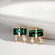 preiswerte -Damen Krystall Ohrstecker - Grün Ohrringe Für Alltag