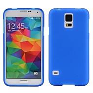 Недорогие Чехлы и кейсы для Galaxy S-гладкий проданный цвет мягкий чехол для tpu для галактики Samsung s5 i9600 галактики s серия чехлы / чехлы