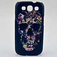 Flori Decorat Skull model greu de caz pentru Samsung Galaxy S3 I9300