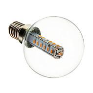 olcso LED gömbbúrás izzók-E14 LED gömbbúrás izzók G45 25 led SMD 3014 Dekoratív Meleg fehér 180-210lm 2700-3200K AC 220-240V
