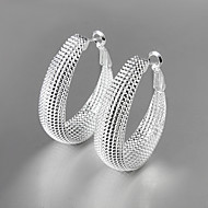 お買い得  -女性用 ドロップイヤリング  -  銀メッキ ファッション シルバー 用途 日常
