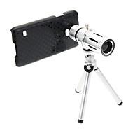삼성 S5를위한 삼각대와 줌 12 배 망원 금속 핸드폰 렌즈