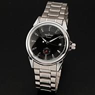 abordables Winner-WINNER Hombre Reloj de Pulsera El reloj mecánico Cuerda Automática Calendario Acero Inoxidable Banda Lujo Plata