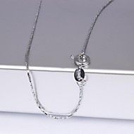 Недорогие $0.99 Модное ювелирное украшение-Жен. Ожерелья-цепочки - Мода Серебряный Ожерелье Назначение Свадьба, Для вечеринок, Повседневные