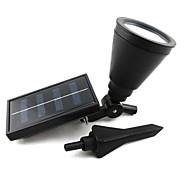 abordables Postes de Luz-jardín de la luz de la lámpara de césped al aire libre inundación de energía solar proyector punto de paisaje con 4 llevó