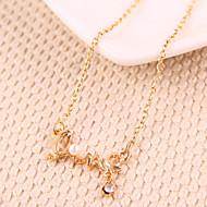 Недорогие $0.99 Модное ювелирное украшение-Жен. Ожерелья с подвесками - Любовь Мода Золотой, Серебряный Ожерелье Назначение Для вечеринок