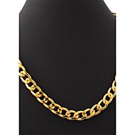 お買い得  -u7®男性の18K分厚いゴールドフィルHIPHOPビッグネックレスゴールド11ミリメートル55センチメートル男性のフィガロリンクチェーンメッキ