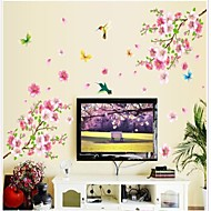 abordables Gadgets Casa y Despacho-Doudouwo ® Florals The Peach Blossom y mariposas Hermosa Parachoque Pared