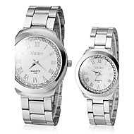 Couple's Diamante Round Dial Alloy Band Quartz Analog Dress Watch (Assorted Colors) Cool Watches Unique Watches