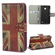 UK zászló minta PU bőr tok állvány és kártya foglalat Nokia Lumia 630