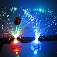 Coway Una rosa Botella de fibra óptica de la flor de colores de luz LED de la noche (color al azar)