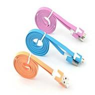 Micro USB 2.0 / USB 2.0 מתאם כבל USB שטוח כבל עבור Samsung matkapuhelin 100 cm עבור TPE
