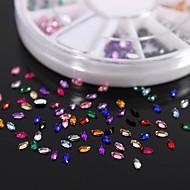tanie Zdobienie paznokci-600pcs koń 12colours kształt paznokci cyrkonie akrylowe oko koło sztuka dekoracji