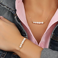 cheap -Women's Pearl Jewelry Set - Pearl, Imitation Pearl European, Fashion Include Gold For Party / Special Occasion / Anniversary / Necklace / Bracelets & Bangles