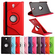 cheap Cases / Covers for Samsung-Case For Tab S 8.4 Samsung Galaxy Samsung Galaxy Case with Stand Flip 360° Rotation Full Body Cases Solid Color PU Leather for
