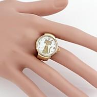 Cute Cat Cartoon Metal Analog Quartz  Ring Watch(1Pc)  Cool Watches Unique Watches Fashion Watch