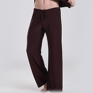 cheap -Men's Active / Chinoiserie Loose Loose / Active / Wide Leg Pants - Solid Colored Black / Sports