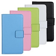 Solid Color Pattern PU Leather Full Body Case with Stand and Card Slot for Samsung Galaxy S5 Mini