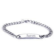 abordables Regalos Personalizados-acero inoxidable de la joyería de regalo personalizado grabado pulseras de identificación ancho 0.7cm