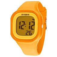 billige Barneklokker-Dame Quartz Digital Digital Watch Armbåndsur Selskapsklokke Hverdagsklokke Silikon Band Kul Oransje