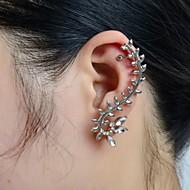 Női Fül Mandzsetta Mászó fülbevaló Strassz Hamis gyémánt Fülbevaló Leaf Shape Luxus Ékszerek Kompatibilitás Esküvő Parti Napi Hétköznapi Sport