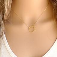 Недорогие $0.99 Модное ювелирное украшение-Жен. Ожерелья с подвесками - Простой стиль, Мода Золотой, Серебряный Ожерелье Бижутерия 1шт Назначение Для вечеринок, Повседневные