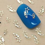 200pcs lysende stjerner gyldne metal skive nail art dekoration