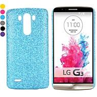 νέα έφτασαν σκόνη glitter με επικάλυψη pc σκληρό πίσω περίπτωση για το LG G3 d850 ls990 (διάφορα χρώματα)
