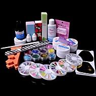 36PCS Glitter UV Gel Cleanser Primer Nail Art Kit Set