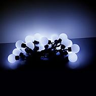 abordables Tiras de Luces LED-5m 20 LEDs navidad de halloween luces decorativas tira luces festivas-grandes luces de la bola blanca (220v)