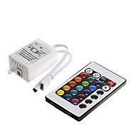 abordables Controladores RGB-z®zdm 6a 72w ir 24-key rgb led control remoto para rgb led light strip (dc12v)