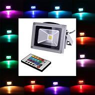 4W LED 투광 조명 1 LED가 통합 LED 450-700lm RGB 리모컨 작동 AC 85-265