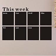 voordelige -muurstickers muur stickers, week bord bord pvc muurstickers