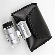 halpa Ammattityökalut-6 * 5 * 3cm 45 on säädettävissä LED-valo mikroskooppi