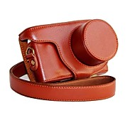 dengpin® de cuero cubierta de la bolsa caso de cámara protectora desmontable para Samsung NX Mini NXF1 con lente 9-27mm