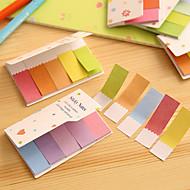 Gradient Regenbogen-Farb doppelte Seiten Scrapbooking Haftnotizen