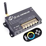 abordables Interruptores  y Enchufes-8a 3 canales 2.4ghz rgb inteligente inalámbrica llevó el regulador con mando a distancia táctil para rgb llevó la lámpara de la tira (CC 5 ~ 24v)