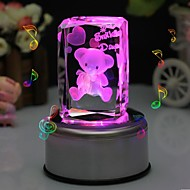 abordables Papelería Personalizada-oso caja de música personalizado de cristal de regalo liwuyou ™