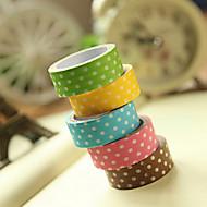 eenvoudig ontwerp vlekpatroon scrapbooking lijmen tape (3m willekeurige kleur, 1 stuks)