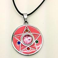 billige Cosplay og kostumer-Smykker Inspireret af Sailor Moon Cosplay Anime Cosplay Tilbehør Halskæder PU Læder Legering Dame nyt