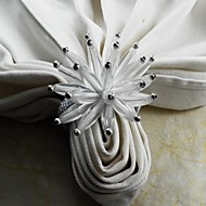 akrylowy kwiat pierścień serwetka, akryl, 4.5cm, zestaw 12