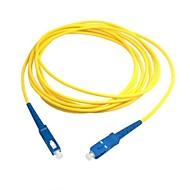 お買い得  -ネットワーク送料無料のSC光ファイバパッチコードジャンパーケーブルSMシンプレックスシングルモードファイバへの5メートル15フィート皮下