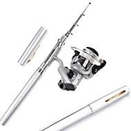 お買い得  釣り用アクセサリー-釣り竿 + リール 釣り竿 ペン型釣り竿 ペン型釣り竿 FRP スピニング 釣り竿 + リール