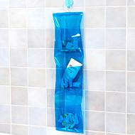 3 층 PVC 매달려 스토리지 가방 (색상 랜덤)